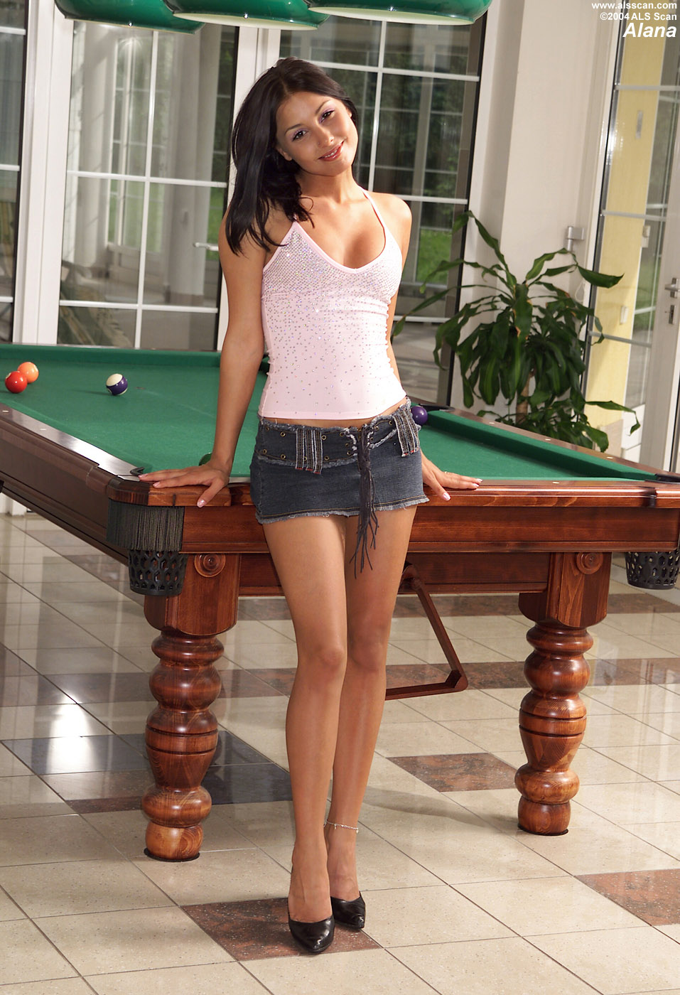 Alana - Alana Plays Billiards