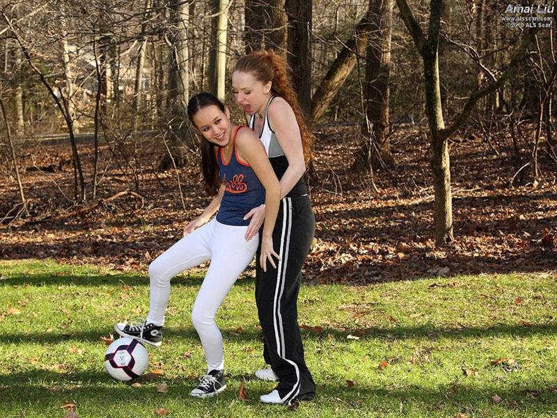 Amai Liu - Soccer Game Turns Sexual with Amai Liu and Leighlani Red