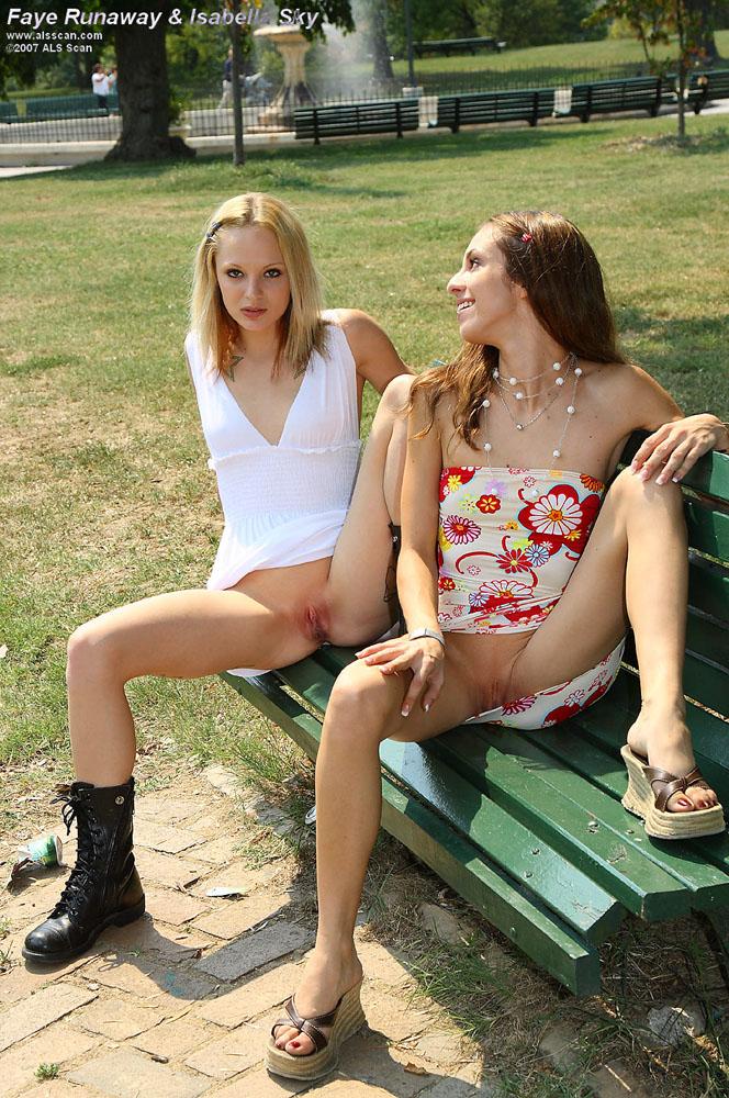 Faye Runaway - Public Nudity with Faye Runaway and Isabella Sky