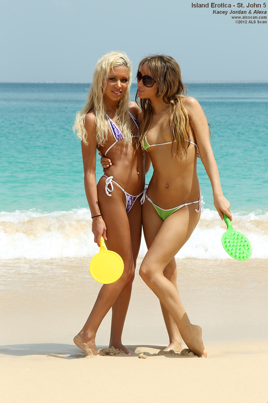 Island Erotica - Pussy Play with Kacey Jordan and Alexa on a Beach in the Caribbean
