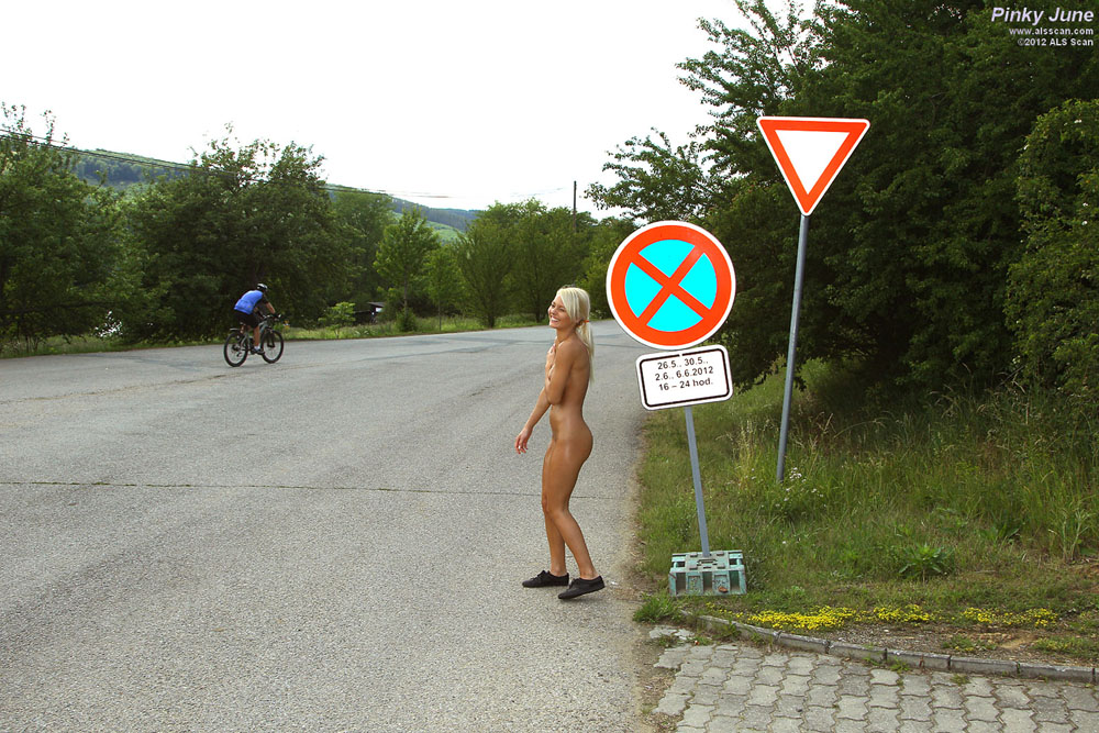 Pinky June - Pinky June Hitchhikes Completely Naked