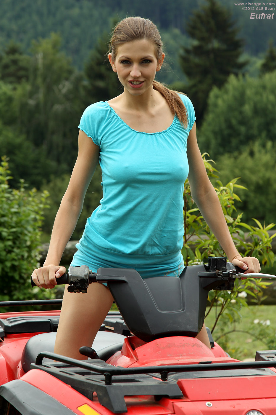 Eufrat - Eufrat Strips and Poses on Top of an ATV
