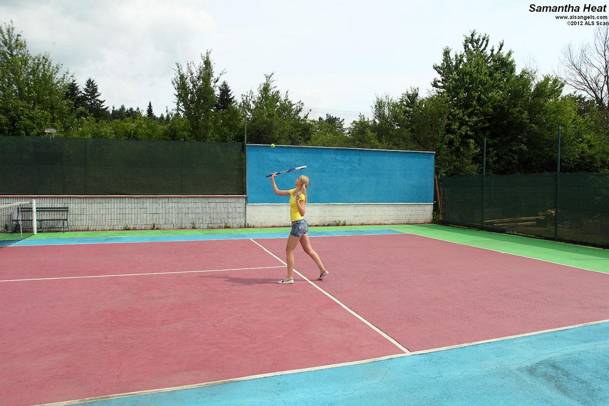 Samantha Heat - Hot Tennis Babes Samantha Heat and Eufrat