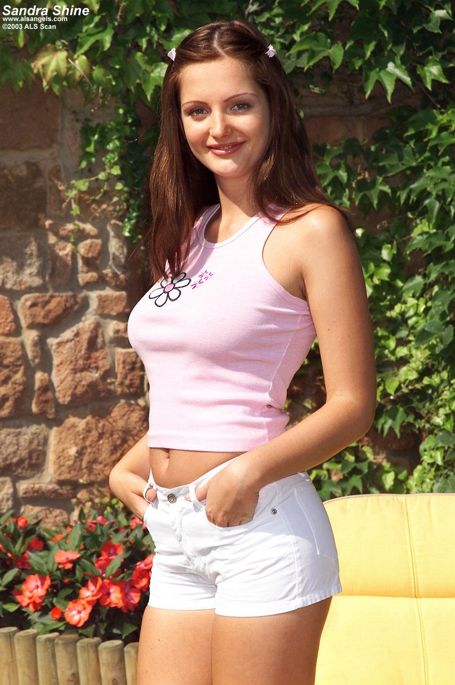 Sandra Shine - Sandra Shine Posing Outdoors
